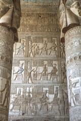 Hathor-headed columns, Hypostyle Hall, Temple of Hathor; Dendera, Egypt