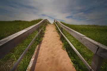 Trail on a beach: Prince Edward Island, Canada