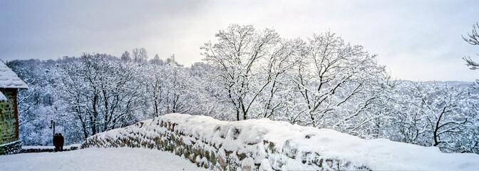parc Vilnius sous la neige