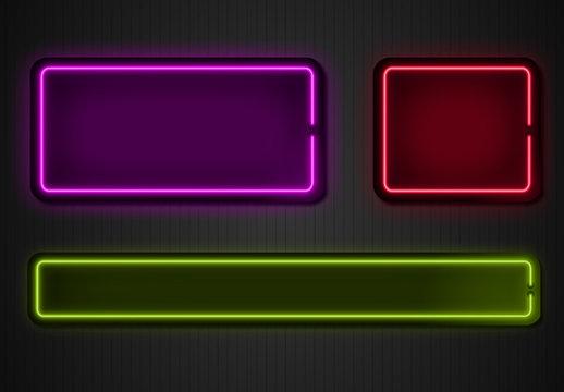 Neon-Überlagerungsgrafiken