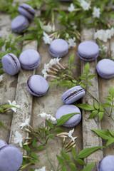 Lavender & Chocolate Macarons with Jasmine Flowers