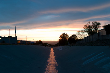 Albuquerque Indian School Ditch Sunset