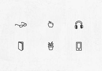 Insieme di icone disegnate a mano