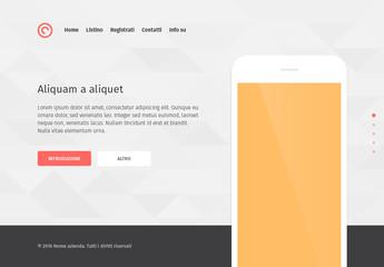 Kit per interfaccia utente per pagina di destinazione