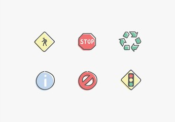 Ensemble de signes et symboles
