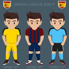 Eibar Soccer Club Kits 2016/17 La Liga