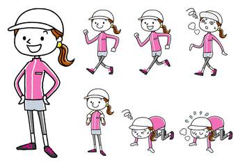 スポーツ:若い女性 セット バリエーション