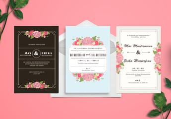 Hochzeits-Einladungssatz