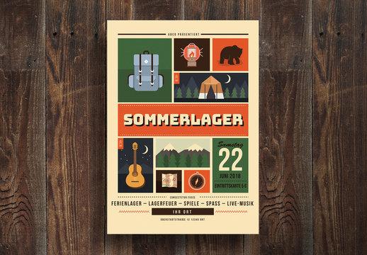 Sommerlager-Poster