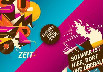 Sommer-Postersatz