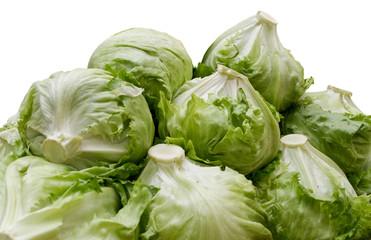 Piles of iceberg lettuce