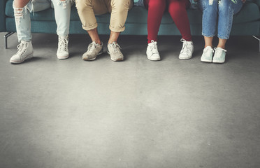 Group of People Diversity Legs Concept