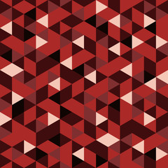 Seamless Red Pattern of geometric shapes