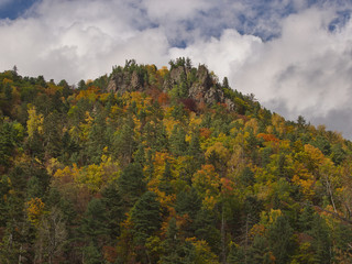 Mountain slope in the fall