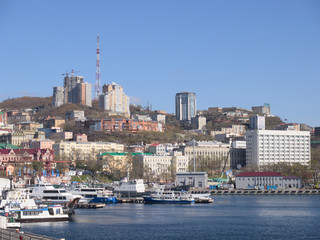 Vladivostok view from a bay