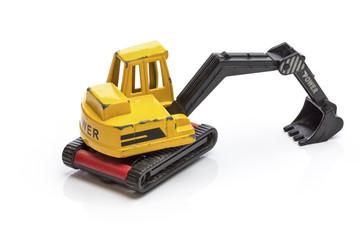 excavator toy model isolated