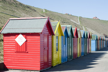 Beach huts at Whitby Sands