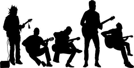 バンドのシルエット