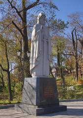 Monument to Saint Ilya in the park of Vladivostok