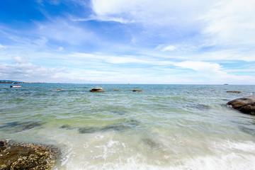 Beach and  sea with sky