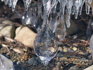 Ice natural sculpture