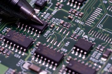 Microelectronics in a circuitboard