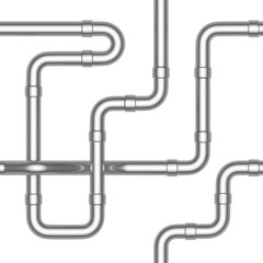 Steel pipeline construction seamless background