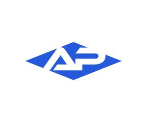 Simple Vector Modern Initial Letters Logo Croped in Diamond shape ap