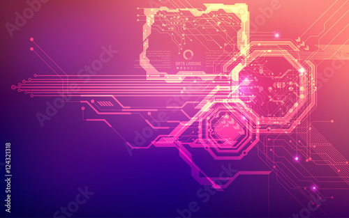 """futuristic backdrop; abstract circuit background; blue ..."