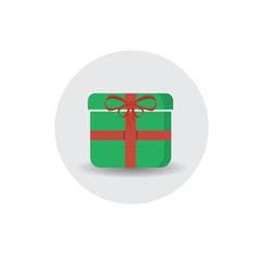 christmas gift flat icon flat design