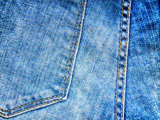 Jeans texture with seams
