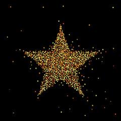 Vector illustration of gold star