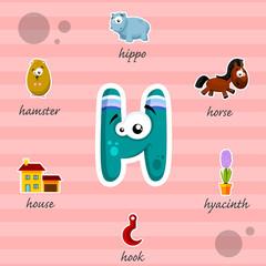 Funny letter H