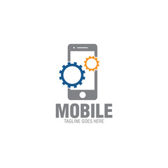 mobile phone creative concept logo icon