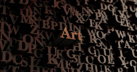 Art - Wooden 3D rendered letters/message.  Can be used for an online banner ad or a print postcard.