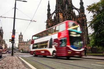 Two-deck bus in Edinburgh, Scotland