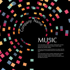 Vector Template, Music Party, Music Festival, Music Sound, Music Poster