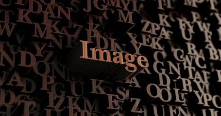 Image - Wooden 3D rendered letters/message.  Can be used for an online banner ad or a print postcard.