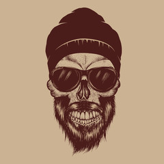 Fashionable skull