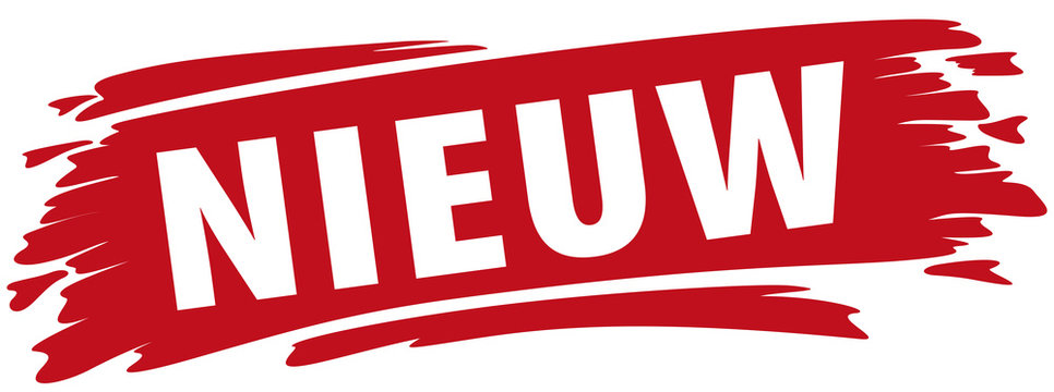 NEU-Label mit Text in NL