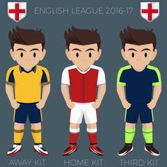 London Football / Soccer Club Kits 2016/17 Premier League