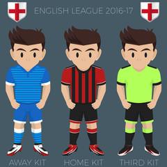 Bournemouth Football / Soccer Club Kits 2016/17 Premier League