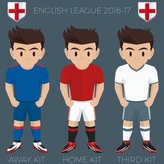 Manchester Football / Soccer Club Kits 2016/17 Premier League