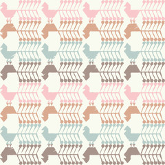 Seamless vector background with decorative birds. Cloth design, wallpaper.