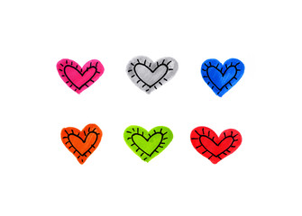Abstract bright hearts