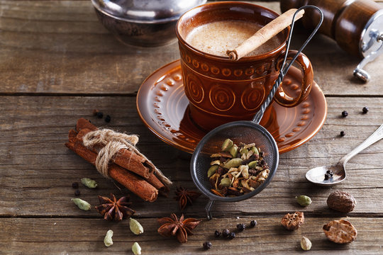 Chai tea masala with spices
