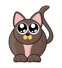 cute cat vector symbol icon design.
