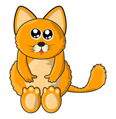 cute cat vector symbol icon design.