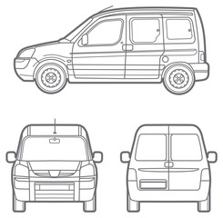 line commercial minivan