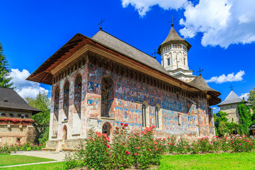 The Moldovita Monastery, Romania. Wall mural